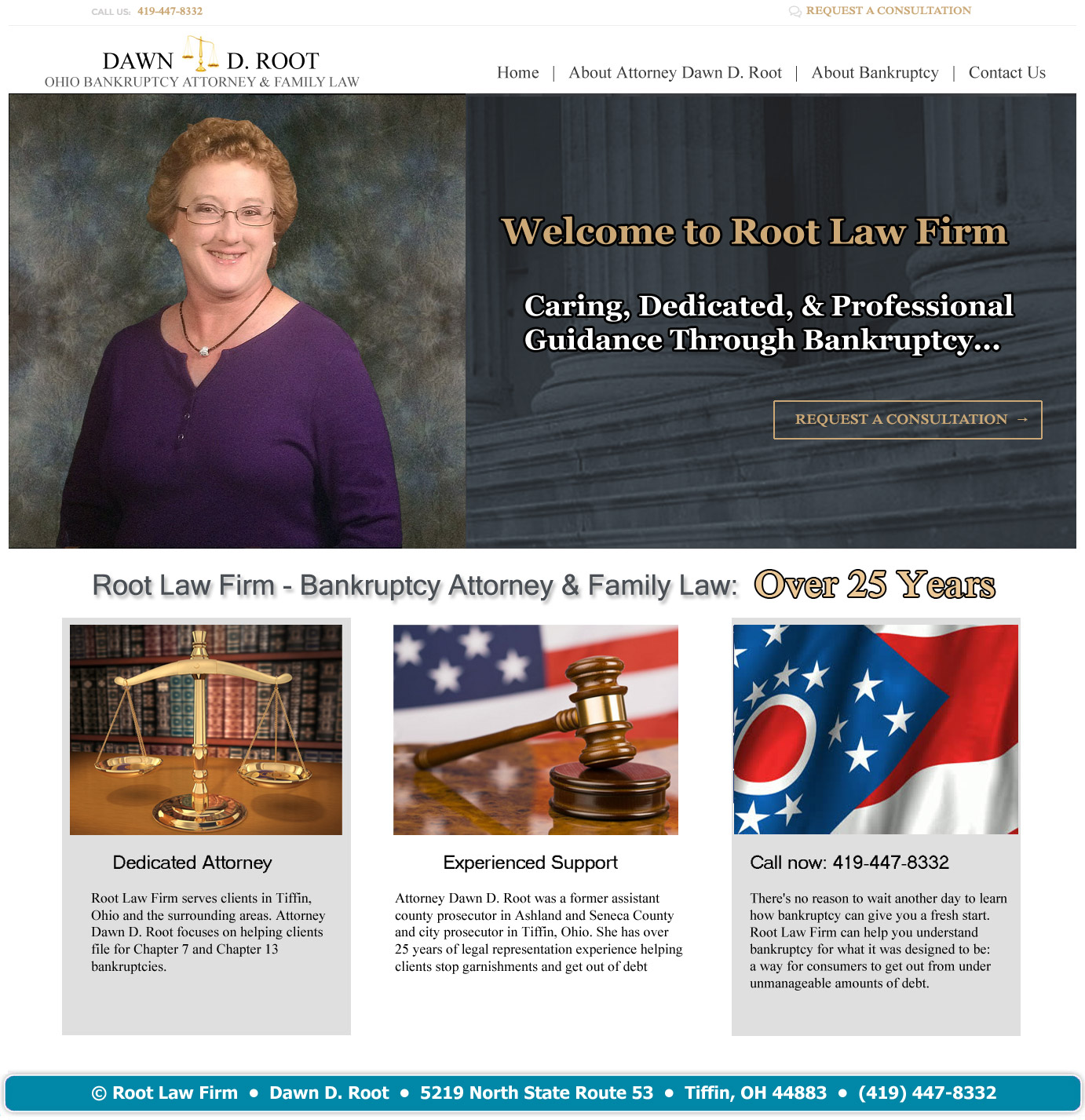 Wel e to Root Law Firm Tiffin Ohio